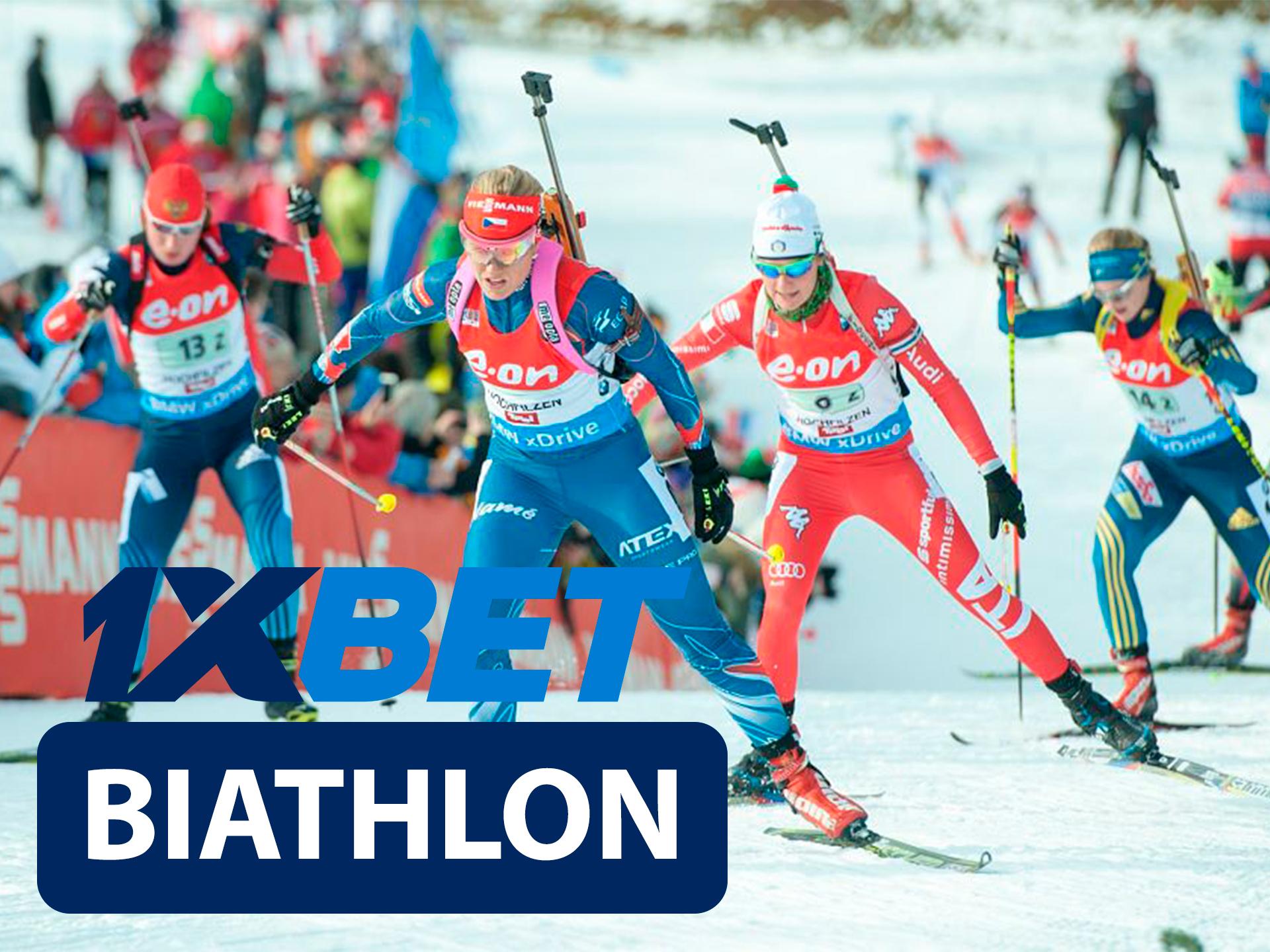 Start betting on biathlon with 1xBet.