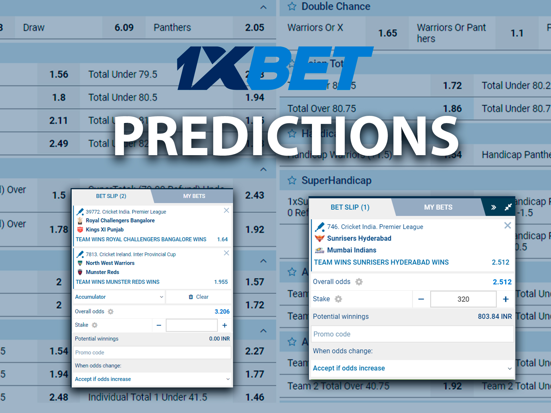 Current sports forecasts on 1xBet.