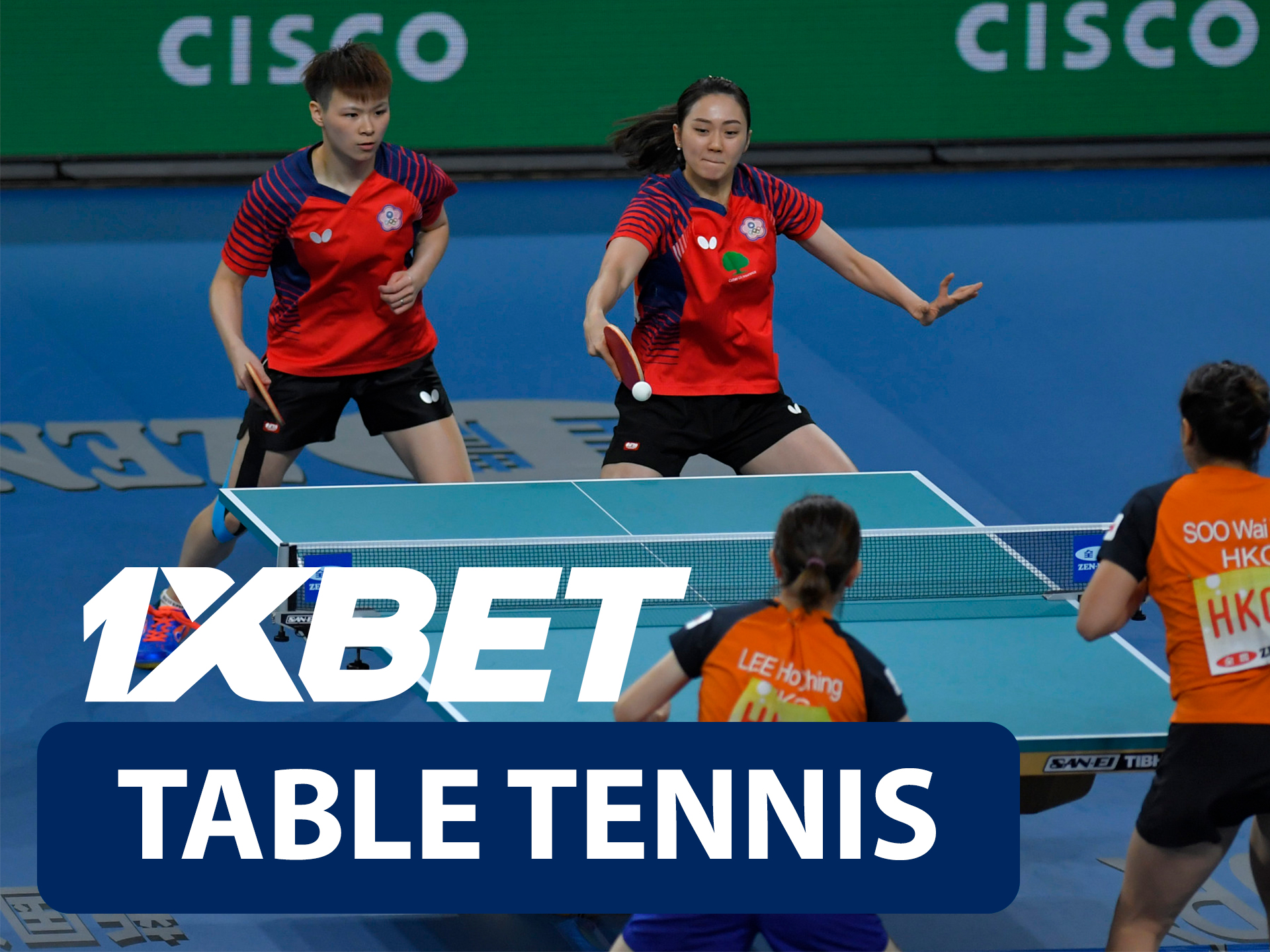 Start betting on table tennis with 1xBet