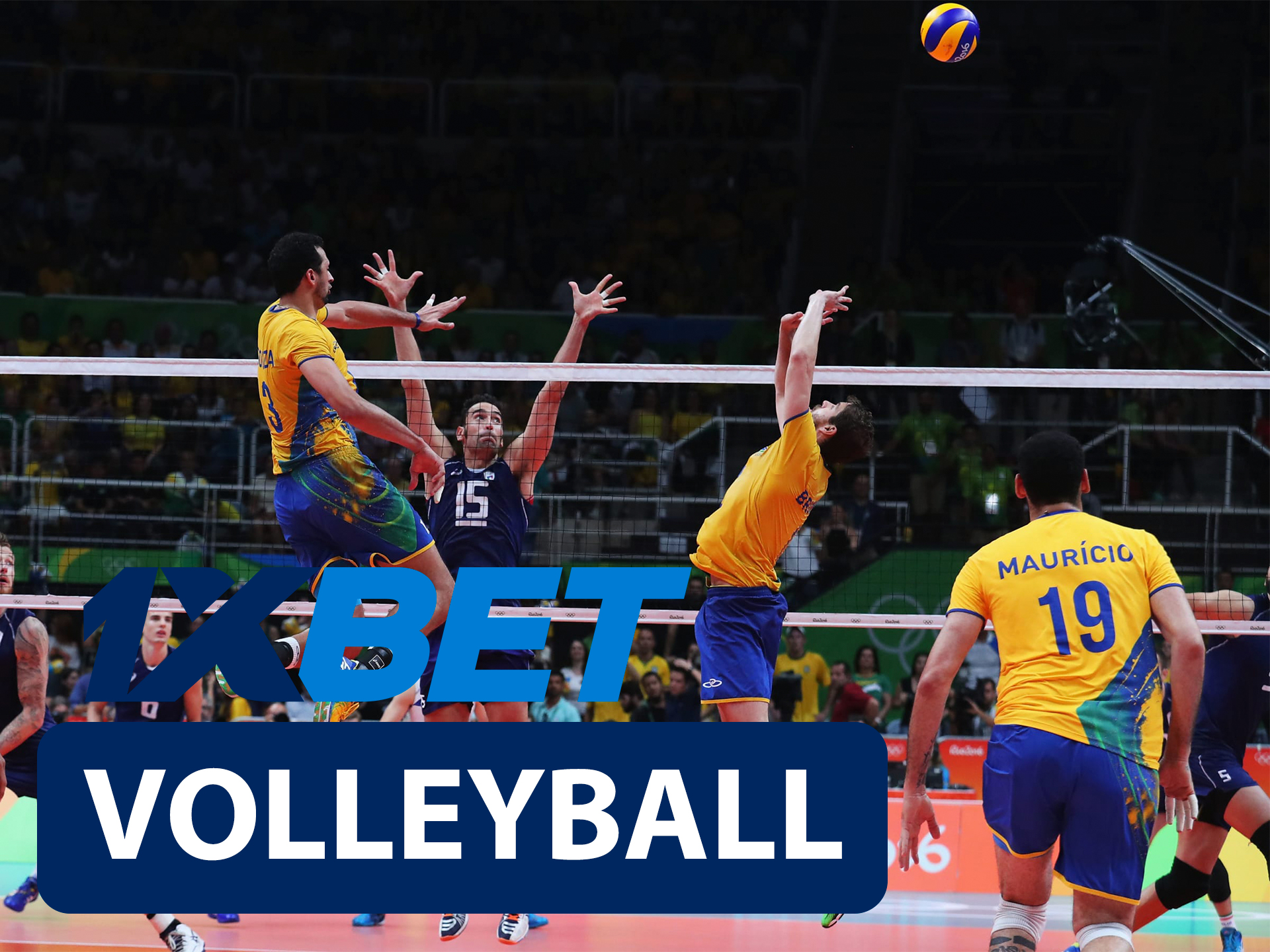 Start betting on volleyball with 1xBet.